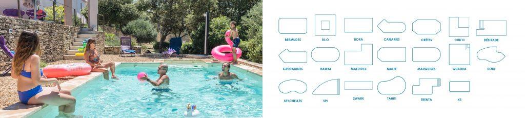 Découvrez nos modèles de piscine Aquilus, et choisissez le modèle de vos rêves