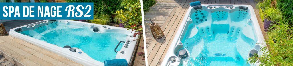 Spa de nage Aquilus, découvrez le modèle RS2, idéal pour allier plaisir de l'eau et sport à domicile.
