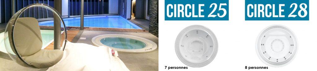 Découvrez nos spas à débordement Aquilus : à la fois esthétiques et performants.